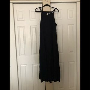 Old navy tiered black maxi